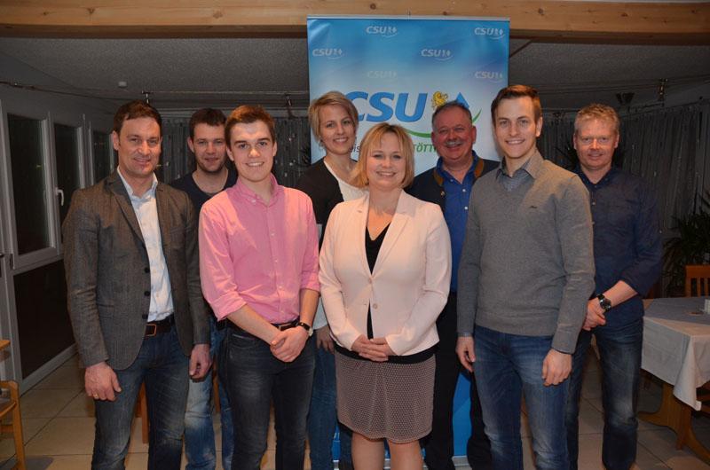 Die neue Vorstandschaft des CSU-Ortverbandes wurde gewählt.